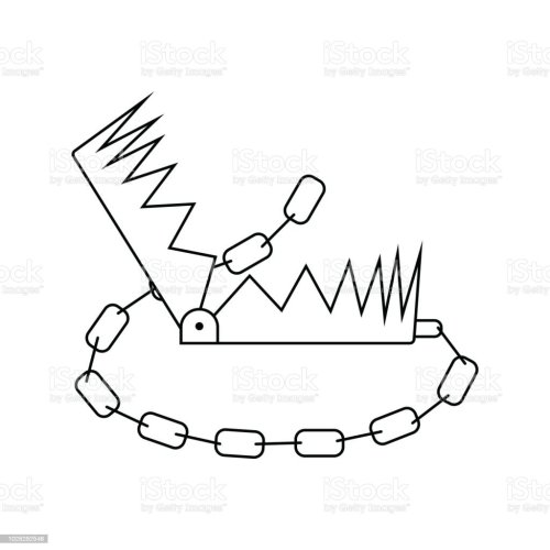 small resolution of icon of bear hunting trap illustration