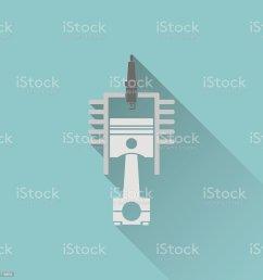 icon of engine piston and cylinder illustration  [ 1024 x 1024 Pixel ]