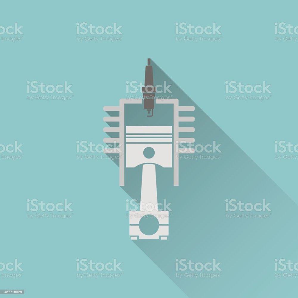 medium resolution of icon of engine piston and cylinder illustration