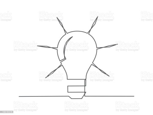 small resolution of idea one line drawing royalty free idea one line drawing stock vector art amp