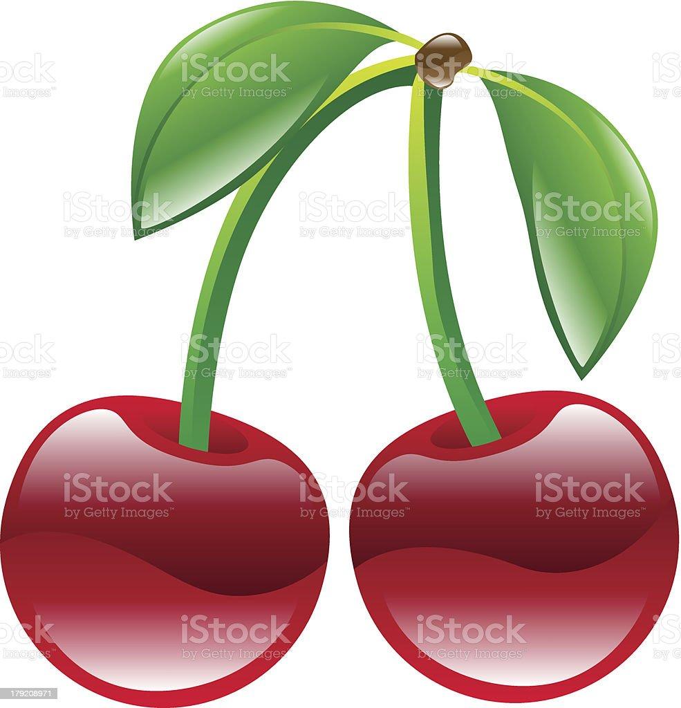 medium resolution of illustration of cherry fruit icon clipart illustration
