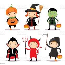 halloween costumes cute illustration wearing vector boys istock royalty