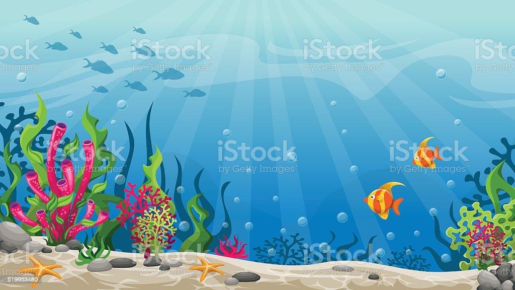 Illustrazione Di Paesaggio Sottomarino  Immagini