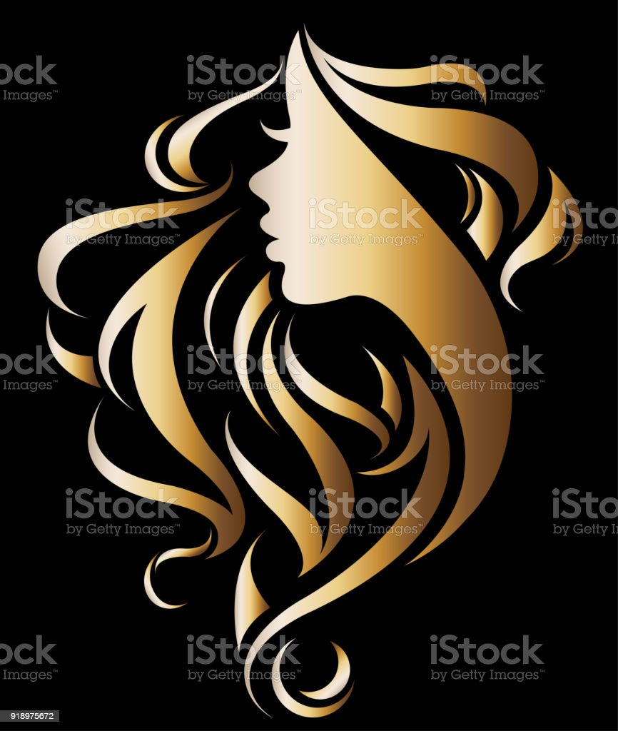 long hair illustrations royalty-free
