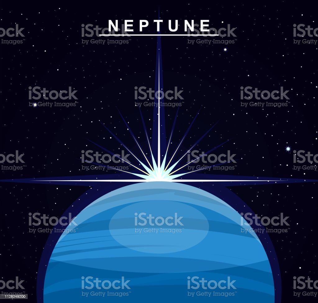 hight resolution of image of the planet neptune the eighth planet of the solar system science and education illustration