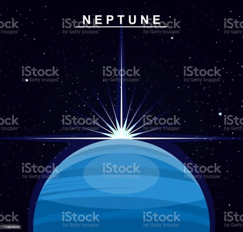 small resolution of image of the planet neptune the eighth planet of the solar system science and education illustration