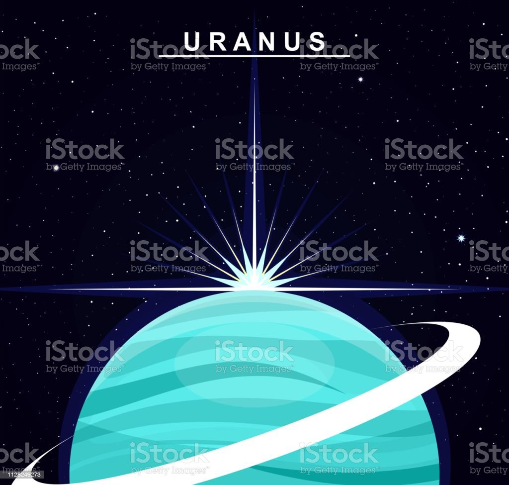 hight resolution of image of the planet uranus the seventh planet of the solar system science and education illustration