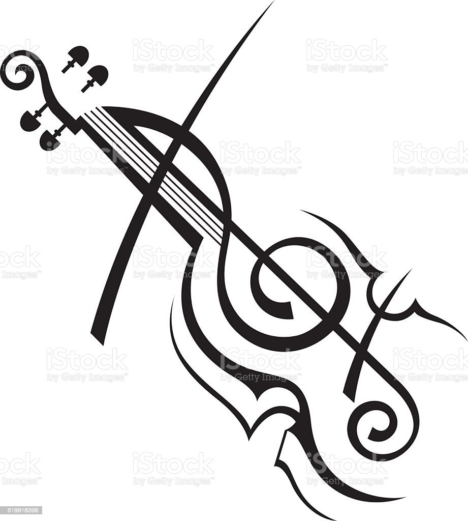 Image Of Violin Stock Vector Art & More Images of Acoustic