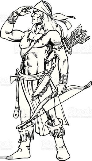 warrior indian vector adult istockphoto