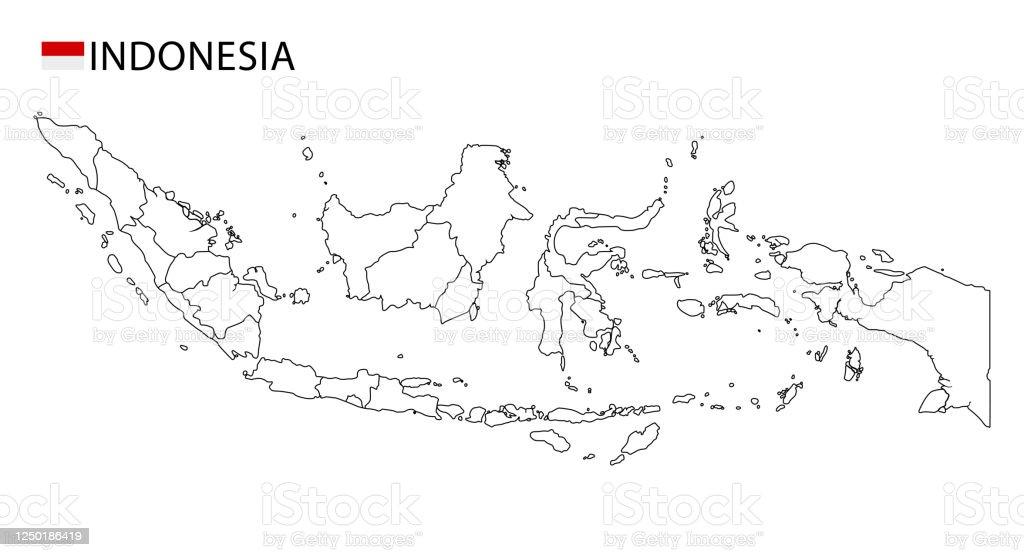 Gambar peta indonesia hitam putih png gambar peta dunia peta. Indonesia Peta Hitam Putih Rinci Wilayah Garis Besar Negara Ilustrasi Stok Unduh Gambar Sekarang Istock