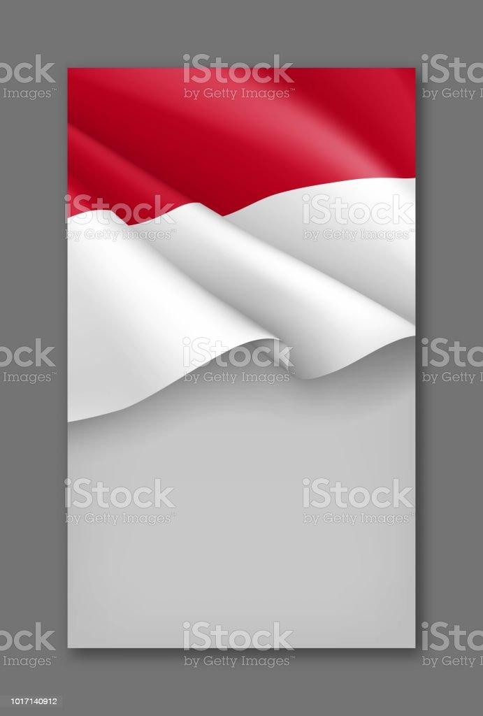 Bendera Merah Putih Vector Images (19)