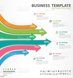 infographic elements template vector 3d arrow diagram with 6 steps flow chart process [ 1023 x 1024 Pixel ]
