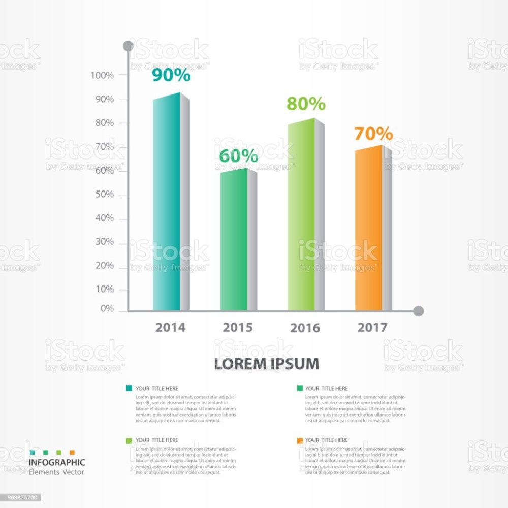 medium resolution of infographic elements template vector 3d bar graph diagram with 4 steps flow chart
