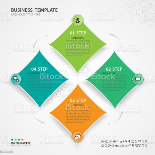 small resolution of infographic elements template vector 3d diagram with 4 steps flow chart process chart