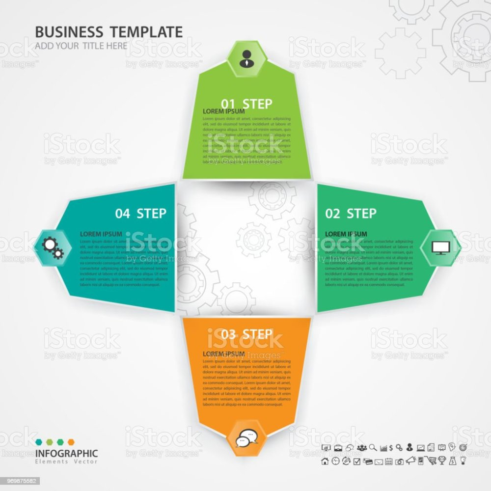 medium resolution of infographic elements template vector 3d diagram with 4 steps flow chart process chart