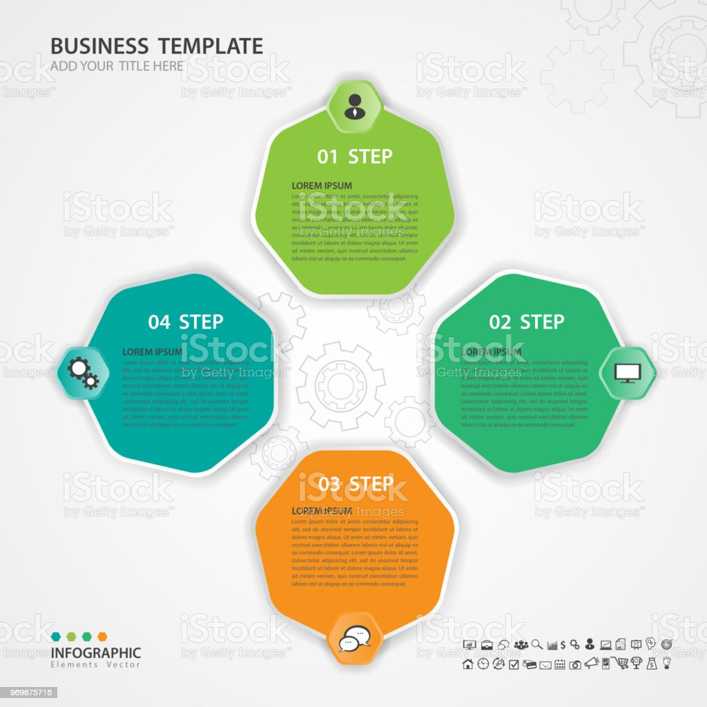 hight resolution of infographic elements template vector 3d diagram with 4 steps flow chart process chart