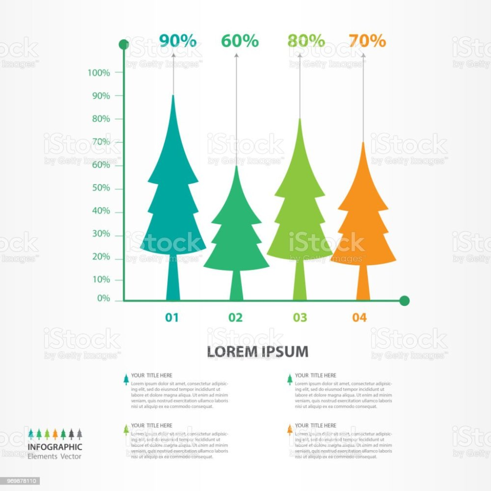 medium resolution of infographic elements template vector tree diagram with 4 steps flow chart process chart