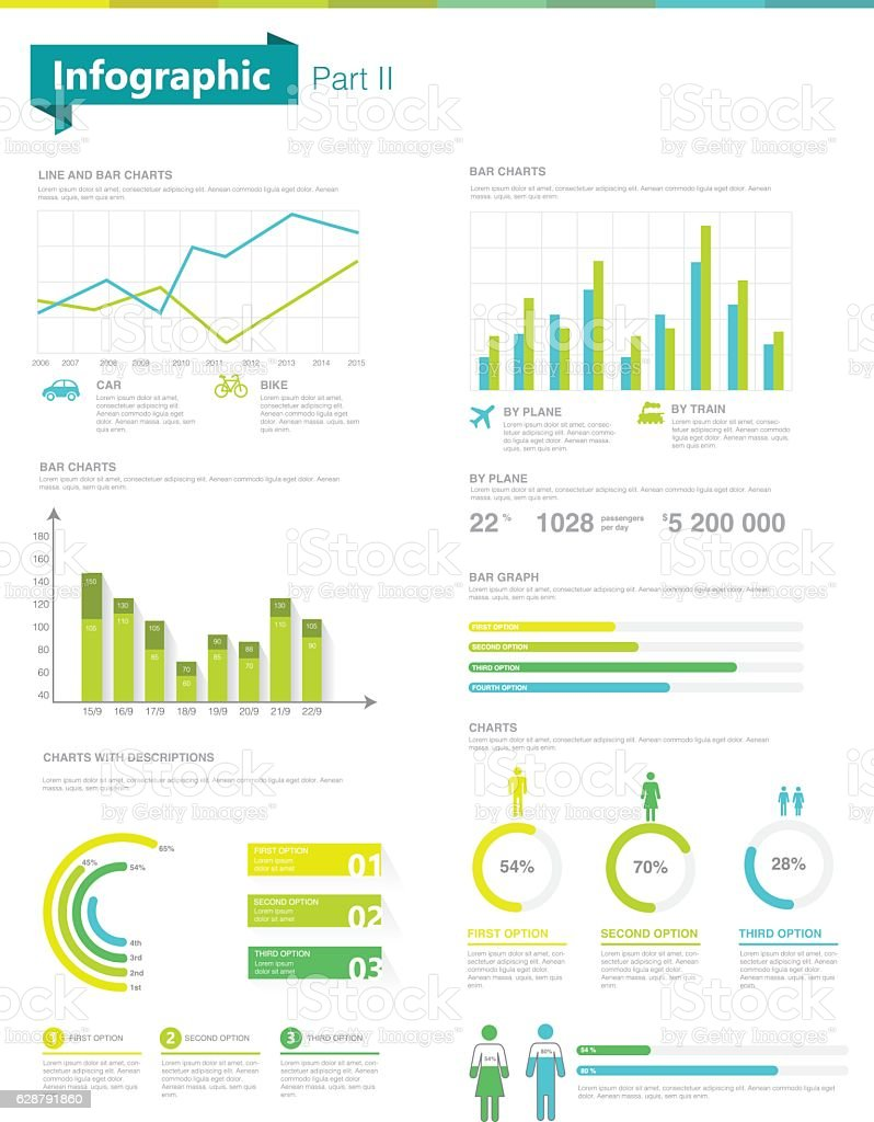 infographic set information graphics