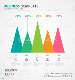 infographics elements diagram with 5 steps options vector illustration pyramid icon presentation [ 1024 x 1024 Pixel ]