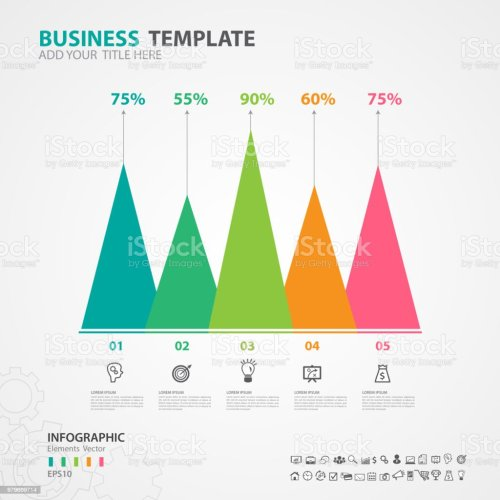 small resolution of infographics elements diagram with 5 steps options vector illustration pyramid icon presentation