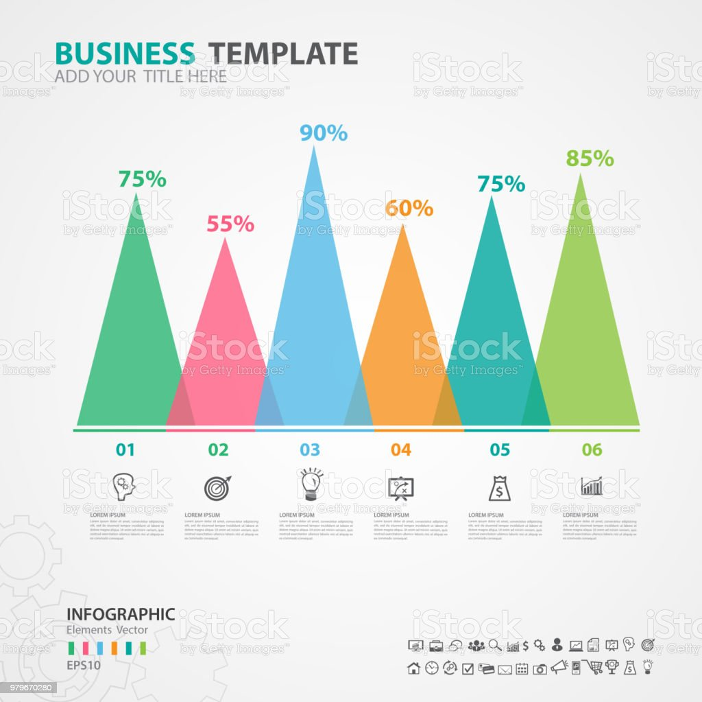 hight resolution of infographics elements diagram with 6 steps options vector illustration pyramid icon presentation