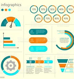 infographics set with charts graphs step by step arrows circle chart cycle [ 1024 x 1024 Pixel ]