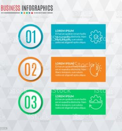infographics template with round buttons 3 steps parts levels options or processes [ 1024 x 1024 Pixel ]