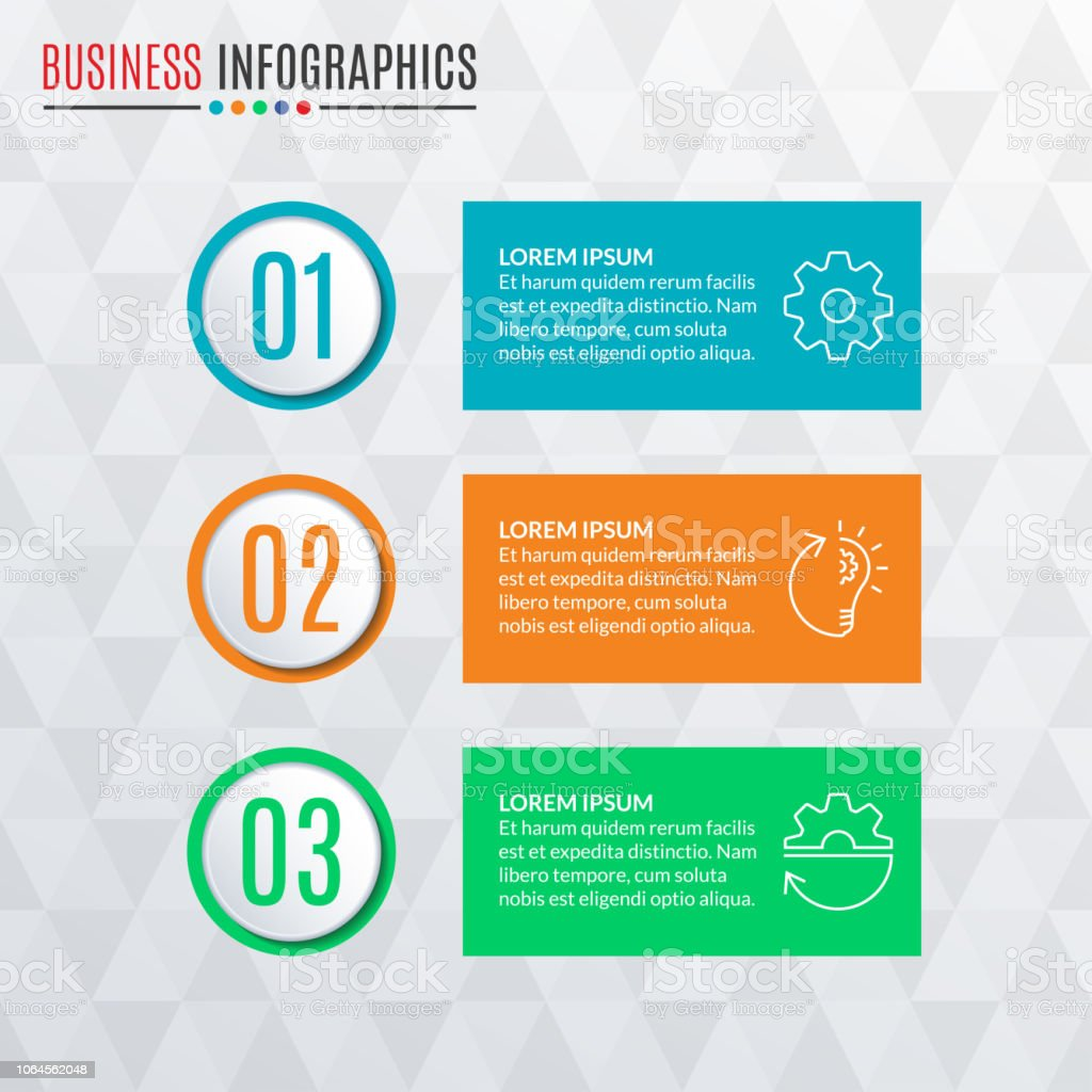 hight resolution of infographics template with round buttons 3 steps parts levels options or processes