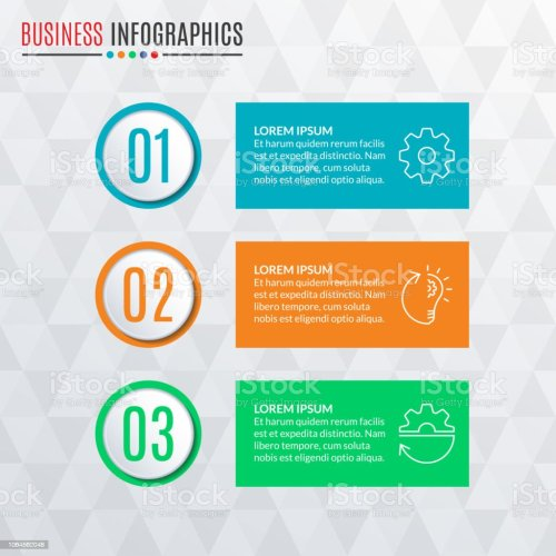 small resolution of infographics template with round buttons 3 steps parts levels options or processes
