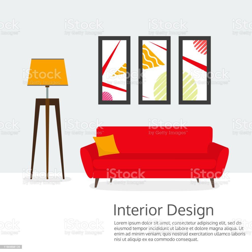 https www istockphoto com fr vectoriel banni c3 a8re de design dint c3 a9rieur meubles modernes pour salon canap c3 a9 lampe photos gm1194658125 340256179
