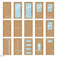 Interior Doors Stock Vector Art & More Images of