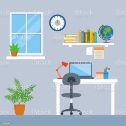 Free study room Vector Art