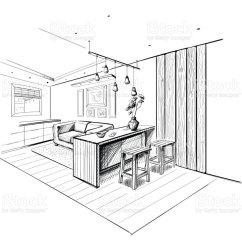 Islands For The Kitchen Island Dining Table Combo 現代廚房與島嶼的內部剪影向量插圖及更多住宅內部圖片810930836 Istock 現代廚房與島嶼的內部剪影 免版稅現代廚房與島嶼的內部