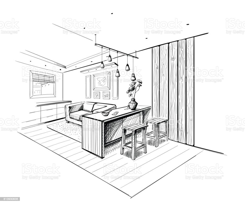 islands for the kitchen chair 現代廚房與島嶼的內部剪影向量插圖及更多住宅內部圖片810930836 istock 現代廚房與島嶼的內部剪影 免版稅現代廚房與島嶼的內部