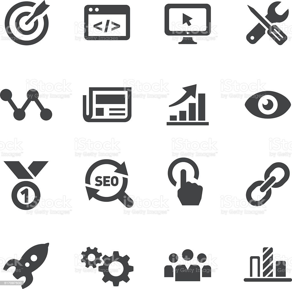 Internet Marketing Icons Acme Series Stock Vector Art