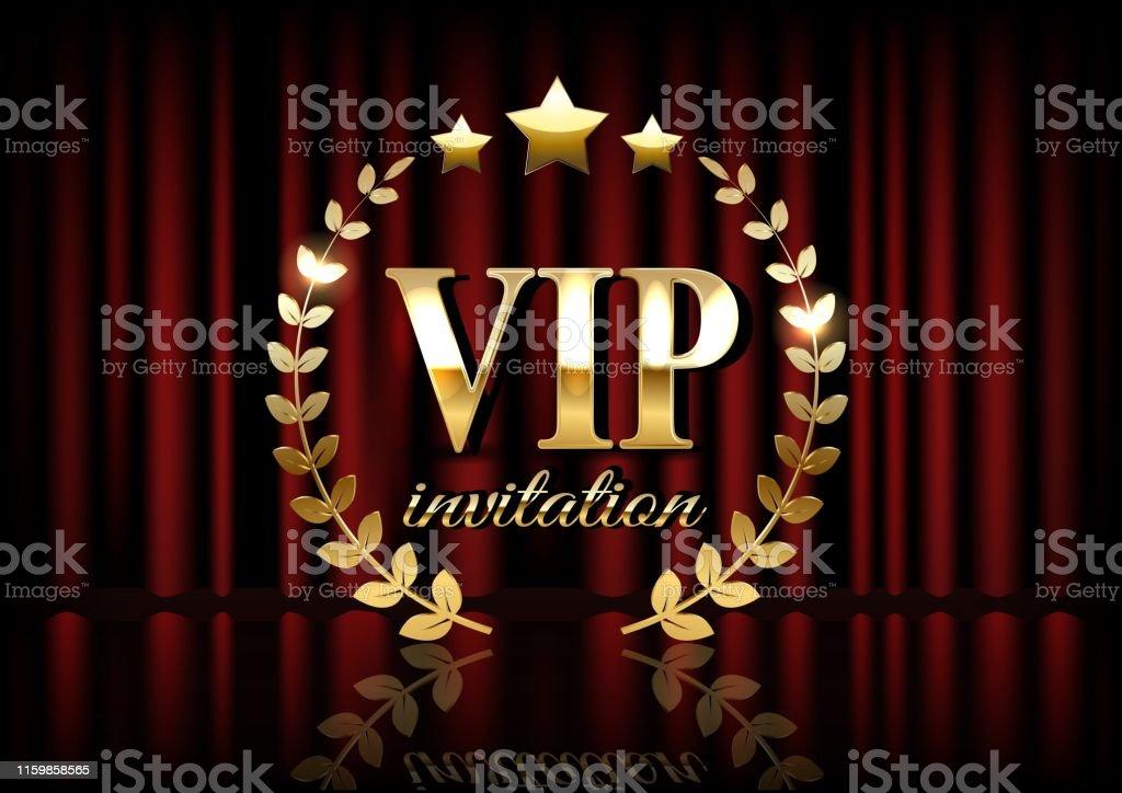 https www istockphoto com fr vectoriel carte dinvitation vip avec des rideaux de th c3 a9 c3 a2tre et des lumi c3 a8res sur larri c3 a8re gm1159858565 317307087