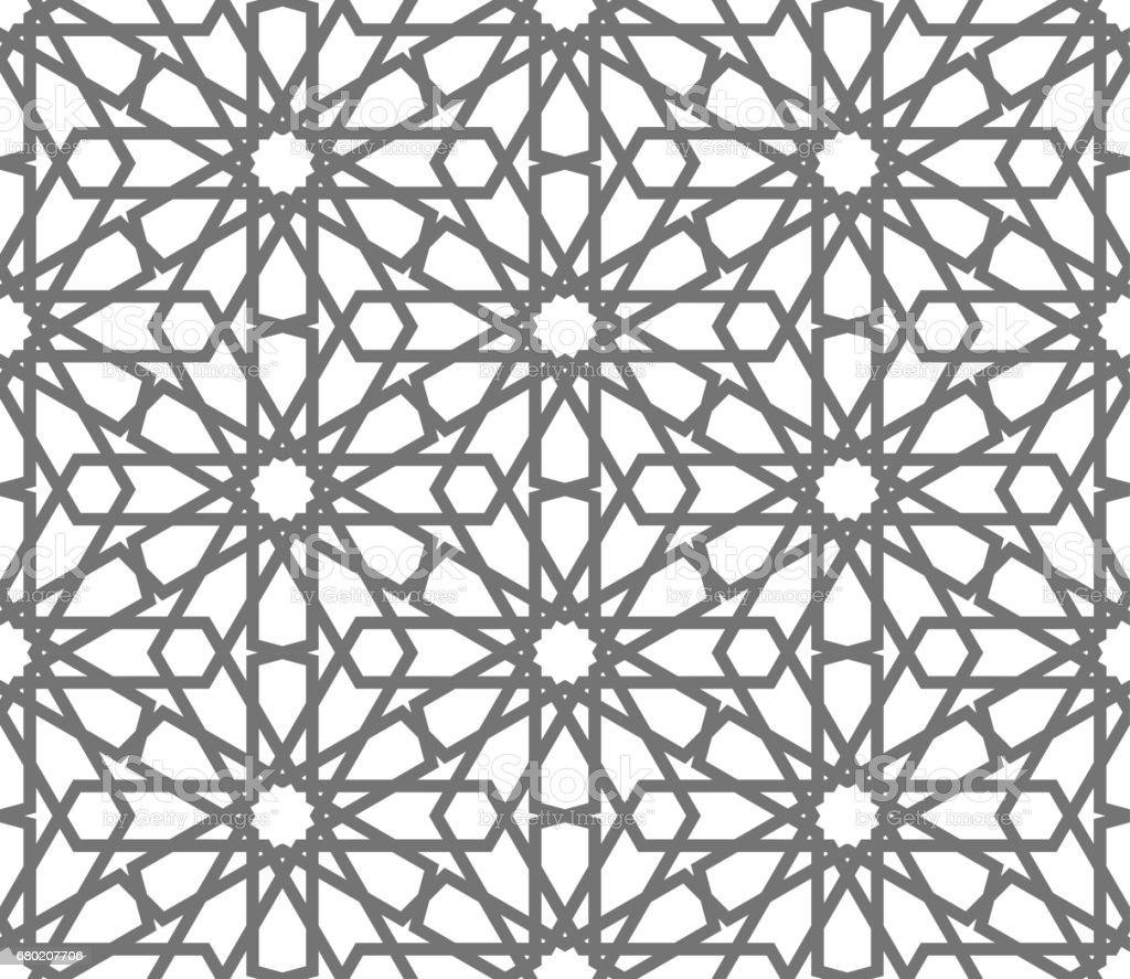 Islamic Seamless Vector Pattern Geometric Ornaments Based On Traditional Arabic Art Oriental Muslim Mosaic Turkish Arabian Moroccan Design On A ...