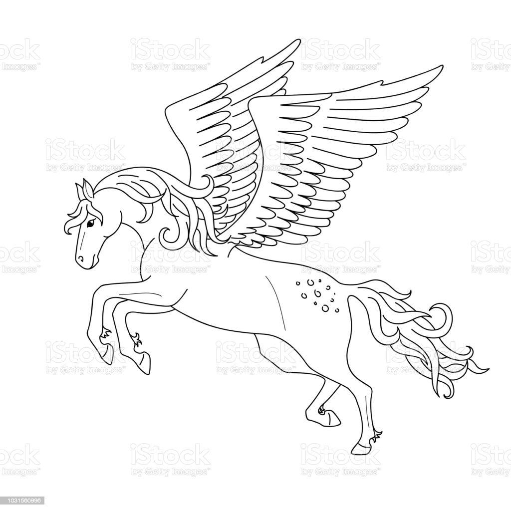 Pegasus Zum Ausmalen - Ausmalbilder und Vorlagen