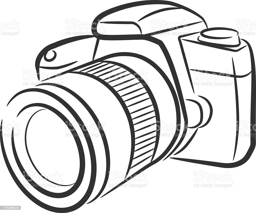 Isolado Câmara Slr Download Vetor e Ilustração 472298423