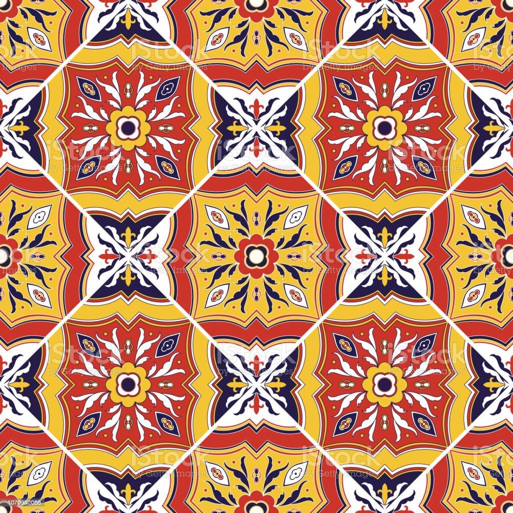 carrelage italien vecteur transparente avec des ornements de fleurs azulejos portugais mexicains talavera de puebla sicile motif majolique italie texture carrelage pour sol en mosaique murale ou salle de bain cuisine en