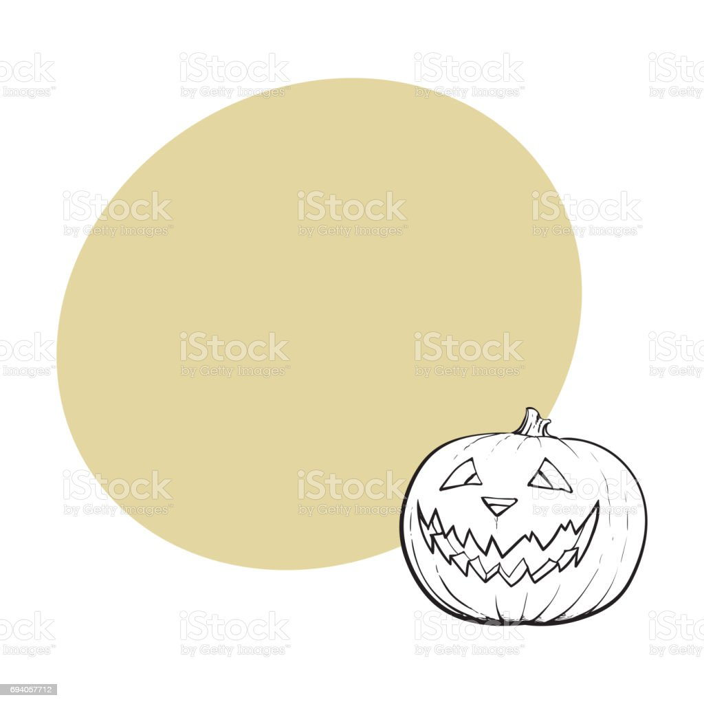hight resolution of jack o lantern pumpkin with scary face traditional halloween symbol royalty free jack o