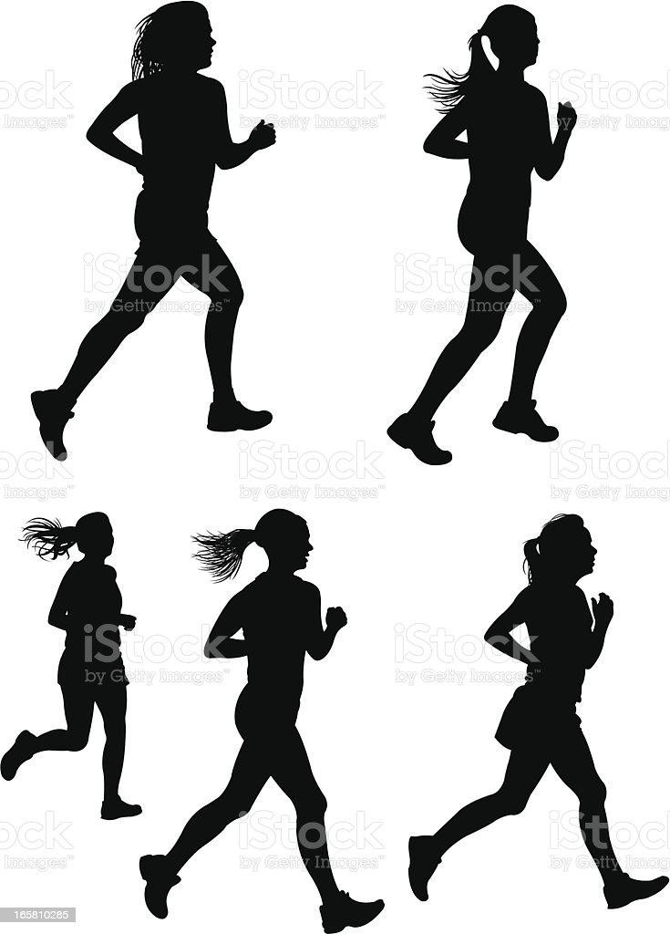 Girls Cross Country Clip Art