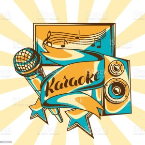 karaoke background event party illustration screen vector microphone retro clip acoustics illustrations banner clipart poster club graphics entertainment istockphoto
