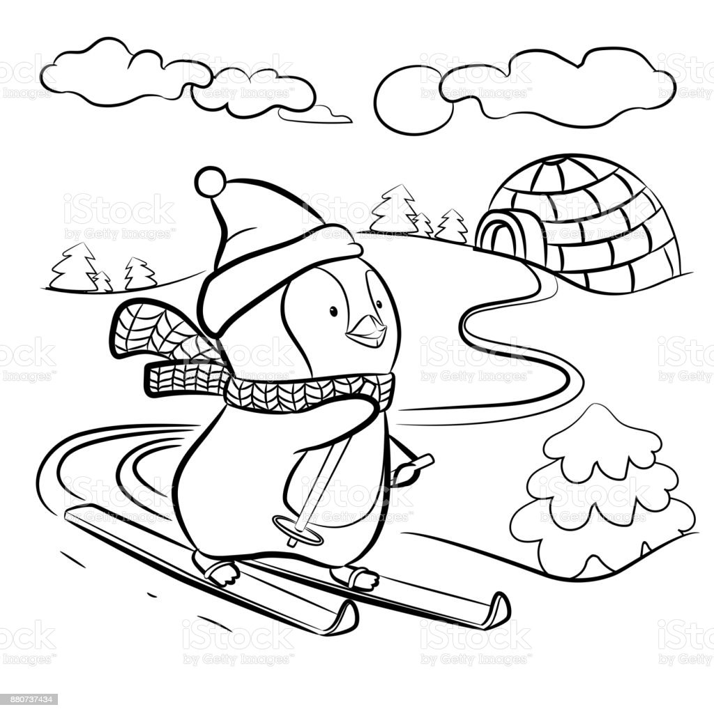 Kinder Malvorlagen Ski Coloring and Malvorlagan