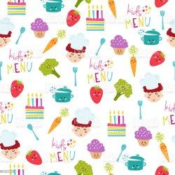 background food menu illustration vector child illustrations chef baby animal cook pattern craft arranging human age