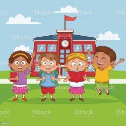 Kids In School Cartoon Stock Illustration Download Image Now iStock