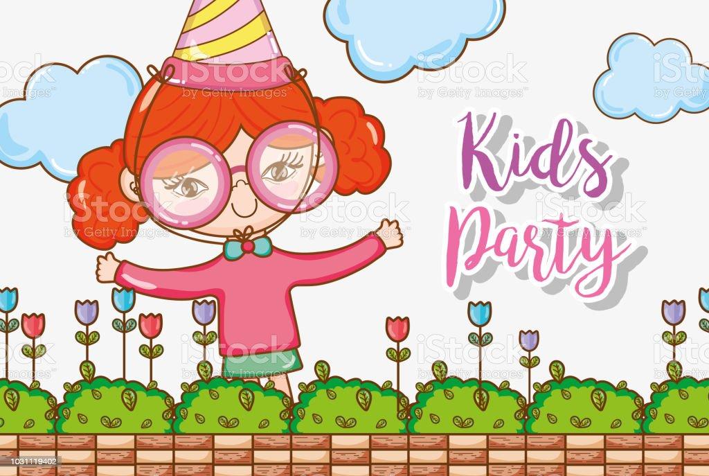 kids party cartoons stock