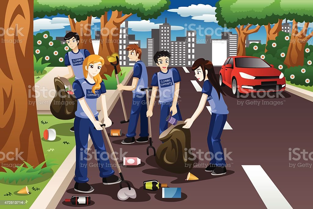 Royalty Free Community Cleanup Clip Art Vector Images