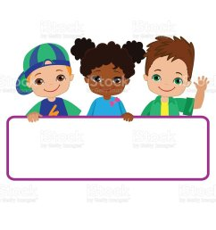kids with signs bricht kids frame board clipart child meeting frame white [ 1024 x 852 Pixel ]