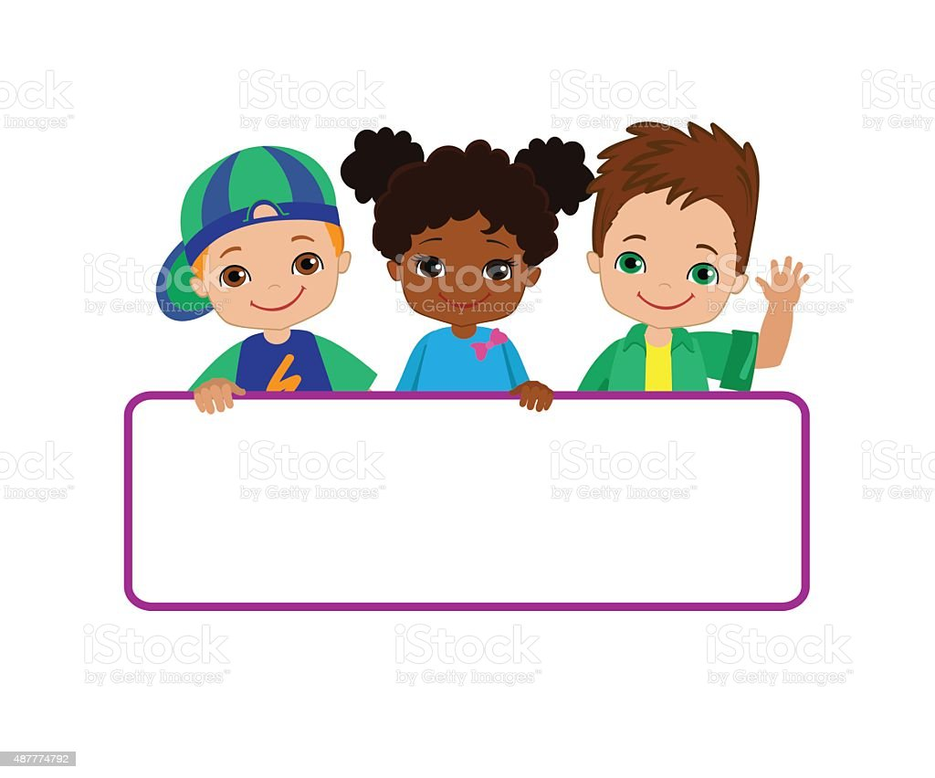 hight resolution of kids with signs bricht kids frame board clipart child meeting frame white